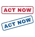 Act Now Rubber Stamps vector image vector image