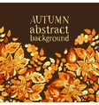 Autumn abstract background Template for design of vector image