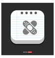 bandage icon gray icon on notepad style template vector image