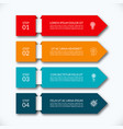 business infographic arrow banner with 4 options vector image vector image