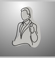 businessman showing thumb up vector image vector image