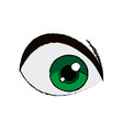 cartoon green eye cartoon look vision vector image vector image