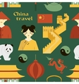 China travel pattern vector image vector image