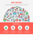 christmas celebration concept vector image vector image