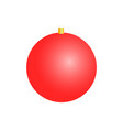christmas toy round shaped decor element vector image vector image