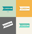 clothespin clothes logo design pattern for sewing vector image