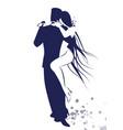 couple dancing tango drawn sketch line vector image vector image