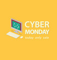 cyber monday deals background vector image