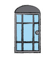 door window house isolated vector image vector image