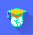 e-learning distance education - icon for vector image vector image