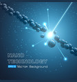 explosion of the molecular chain vector image vector image