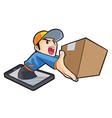 fast delivery by phone vector image