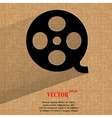 Film icon flat modern design on geometric abstract vector image vector image