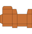 foldable box design vector image vector image