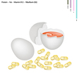 Fresh Egg with Protein Fat Vitamin B12 and B2 vector image vector image