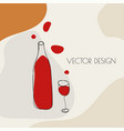 glass red wine vector image