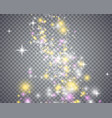 glowing magical wave of glitter star vector image vector image