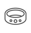 jewelry flat line icon 48x48 pixels vector image vector image