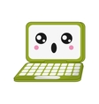kawaii laptop icon vector image vector image