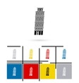 leaning tower pisa in italy icon vector image