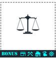 libra icon flat vector image