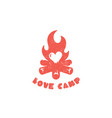 love camp logo vector image