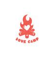 love camp logo vector image vector image