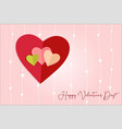 love hearts postal vector image vector image