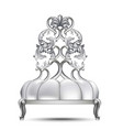 luxury baroque chair realistic 3d design vector image vector image
