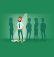 man stand out from the crowd choosing vector image