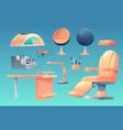 manicure pedicure salon furniture appliances set vector image vector image