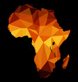 map africa polygon vector image vector image