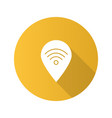 map pinpoint with wifi signal inside flat design vector image