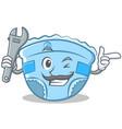 mechanic baby diaper character cartoon vector image vector image