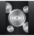 Mechanical background vector image vector image