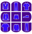 mens clothing icon set vector image