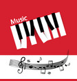 music background with abstract piano notes keys vector image vector image