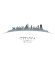 Ottawa Ontario Canada city skyline silhouette vector image vector image
