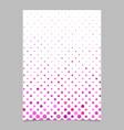 pink dot pattern brochure background - stationery vector image vector image
