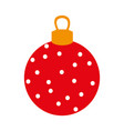 red circle ball decoration to christmas design vector image
