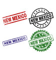 scratched textured new mexico stamp seals vector image