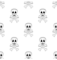 Scull Cross Bones Seamless Pattern vector image