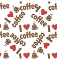 Seamless pattern with coffee vector image vector image