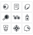 Set of Human Vision Icons Eye Braille vector image