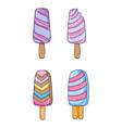 set of summer cartoons vector image vector image