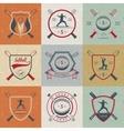 Set Softball Badges and Logos vector image vector image