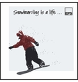 Skiing Extreme Snowboard vector image vector image