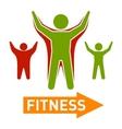 slim and fat people figires fitness progress body vector image vector image