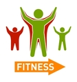 Slim and Fat Peple Figires Fitness Progress Body vector image vector image