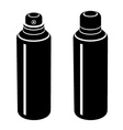 spray can black symbol vector image vector image